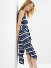 Gap Women's Wrap Belt Stripe Midi Dress Size XSP- NWT