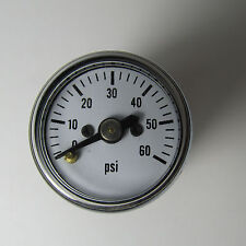 "LIVE STEAM ~0 TO 60 PSIG MINIATURE PRESSURE GAUGE (5/16-27) - 1"" DIAL - NEW"
