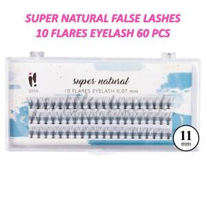 KNOT FREE Super Natural False Eyelashes 60 CLUSTERS C CURL 12mm Eyelash Ibra