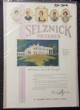 """1920 SELZNICK PICTURES 10x15"""" Movie Print Ad FN 6.0 Olive Thomas"""