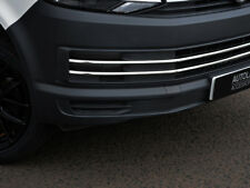 6Pc Chrome Bumper Grille Trim Accents To Fit Volkswagen T6 Transporter (2016+)