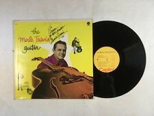 MERLE TRAVIS The Merle Travis Guitar LP Capitol SM-650 US SIGNED VG Country 3F