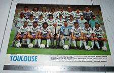 CLIPPING POSTER FOOTBALL 1987-1988 TOULOUSE FC Téfécé TFC STADIUM
