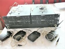 4 x Shure UC wireless headset system
