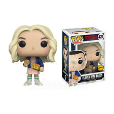 """4"""" ELEVEN WITH EGGOS figure CHASE wig STRANGER THINGS funko POP! TELEVISION 421"""