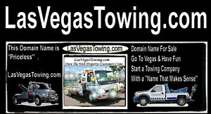 Las Vegas Towing .com Domain Name For Sale Tow Car Truck Website Customers  URL