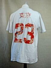 BNWT Mens Eleven Paris Toyko 23 White Short Sleeve T-Shirt Tee S Casual Printed