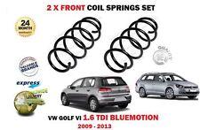 Para VW Volkswagen Golf VI 1.6 Tdi Bluemotion 2009-2013 2X Frente Muelle Set