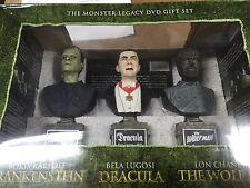 Universal Monster Legacy 6-DVD Gift Set Busts SEALED Frankenstein Dracula