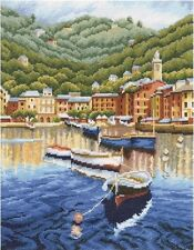 "Counted Cross Stitch Kit Rto M400 - ""Harbor before sunset"""