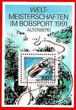 WM im Bobsport in Altenberg Bund Block 23 Ersttagssonderstempel