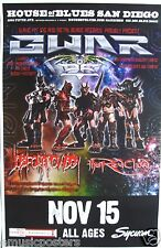 GWAR  /JOB FOR A COWBOY 2009 SAN DIEGO CONCERT TOUR POSTER - Group & Galaxy