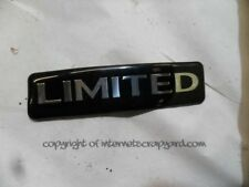 "Jeep grand cherokee wj 3.1 99-04 ""limited"" limited badge logo signe"