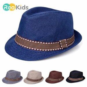 Hat Boys Fedora Cap Hats Toddler Infant Sun Caps Classic Style Stylish