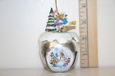 Mickey Mouse Sleigh Bell Ornament - Quacked Ice - Donald & Daisy - Ashton Drake