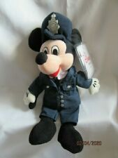 """VINTAGE DISNEY STORE 8"""" POLICEMAN MICKEY MOUSE - WITH TAGS"""