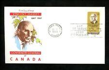 Postal History Canada Scott #491 Overseas Mailer FDC Vincent Massey 1969 ON
