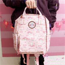 Japan Sanrio My melody Girls Waterproof Backpack Tote Leather Shoulder Bookbags