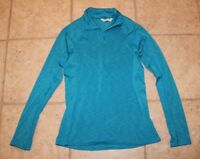 Under Armour Womens Medium Cold Gear Fitted Long Sleeve 1/4 Zip Athletic Top