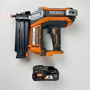 RIDGID 18-Volt Brushless HYPERDRIVE 2-1/8 in. Brad Nailer R09890 (1) Battery