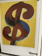 Andy Warhol Moco Museum Poster - Dollar Sign