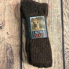 Williamston Alpaca Socks Brown One Size NEW