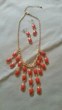 Red costume jewelry set