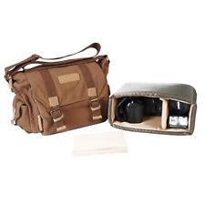 Durable Canvas Vintage Shoulder Messenger Camera Bag For Canon Nikon Sony DSLR
