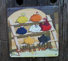 Chicken Hen Sign WEATHERPROOF Custom Made Metal Run Coop plaque with any Name