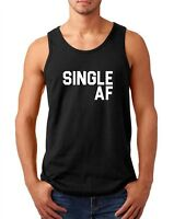 Mens Tank Top Single AF Shirt Funny Valentines T-Shirt Valentine's Day Gift Tee
