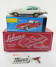 Schuco Micro Racer 1047/1 Jaguar XKE E-Type White Wind Up New in Box