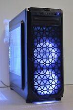 RGB Gaming PC INTEL QUAD CPU 8 Go RAM 500 Go HDD 2 Go GDDR 5 GT 1030 Win 7 Wi-Fi