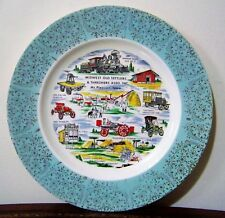 Midwest Old Settlers & Threshers Association Souvenir Plate VTG Mt. Pleasant IA