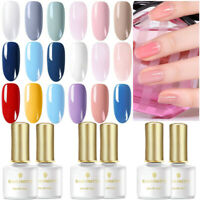 BORN PRETTY 6 Colors UV Gel Nail Polish Soak Off Base Top Coat Nail Gel Kit 6ml
