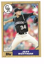 "2017 Topps Update '87 Style 5""x7"" #/49 RC Jeff Hoffman Colorado Rockies OVERSIZE"