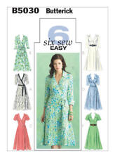 Butterick Sewing Pattern B5030 5030  Misses 16-22 Easy Wrap Dresses Belt Sash