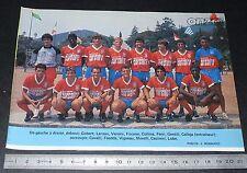 CLIPPING POSTER FOOTBALL 1986-1987 D2 GAZELEC AJACCIO GFCA MEZZAVIA CORSICA