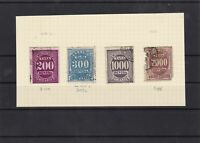 brazil 1890-95 postage due stamps as shown ref 7405