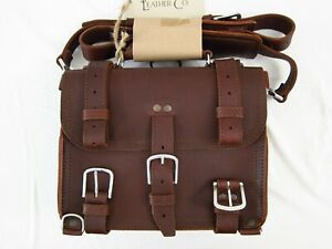 "Saddleback Leather 12"" SMALL CLASSIC BRIEFCASE Suede Lined 2-Rivet Chestnut"
