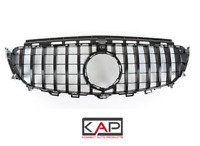 Black GTR AMG Panamericana Style Front Grille, Fits; Mercedes E Class W213 2016+