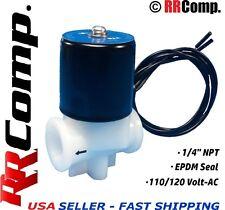 """1/4"""" NPT 110/120 AC Plastic Electric Solenoid Valve, Seal EPDM: Air, Water, N/C"""