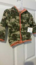 Garanimals Boys Hooded Micro Fleece Jacket  GREEN CAMO  size 12 MONTHS NWT