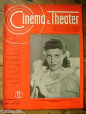 CINEMA & THEATER 14/8/1942 ILSE WERNER ALIDA VALLI ANNA RIMSKAJA HILDE WEISNER