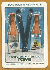 16 New Belgium Make Your Winter White POW Beer Coasters Accumulation White IPA