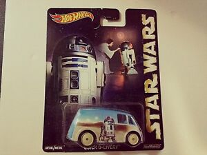2015-Hot Wheels-Star Wars-Quick D-Livery-Metal/Metal,Real Riders-1:64-Boys-3+