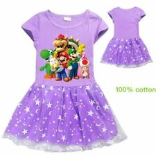 2020 Super Mario Bowser Summer Home Tops Dress Clothing Girl Birthday Party Gift