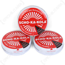 SCHO-KA-KOLA Allemand haute Caffine Chocolat Noir Énergie Boost Cola Tin Set de 3