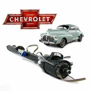 "1936-53 GM Chevy 33"" TILT STEERING COLUMN SHIFT W/ KEY Master blue flame Ramjet"