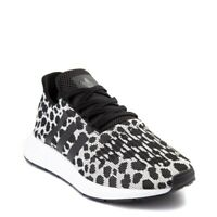 NEW Womens adidas Swift Run Athletic Shoe Cheetah Leopard Black/White Womens