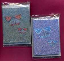 PKS OF 16 SIMULATED MINI OIL BUTTERFLY GIFT NOTELETS bySELF-REP'ARTIST[FREE P&P]